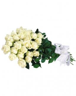 Bouquet of 15 white roses | Delivery and order flowers in Aktau