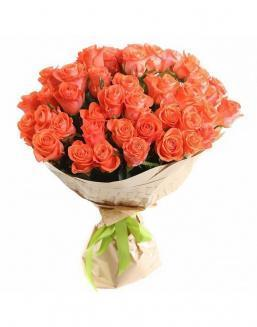 Bouquet of 51 carrot roses | Delivery and order flowers in Aktau