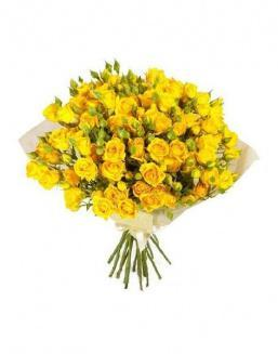 Bouquet of 51 yellow rose bushes | Delivery and order flowers in Aktau