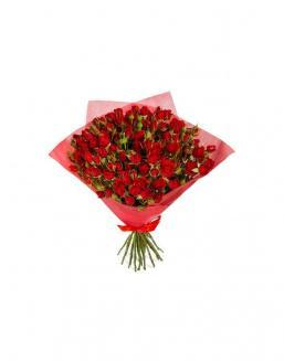 4Bouquet of 15 red spray roses | Delivery and order flowers in Aktau