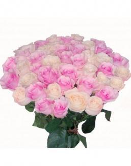 Bouquet of roses: pink and cream | Delivery and order flowers in Aktau