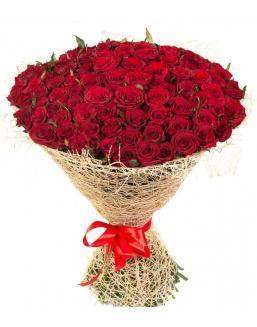 Bouquet of 101 red roses | Delivery and order flowers in Aktau