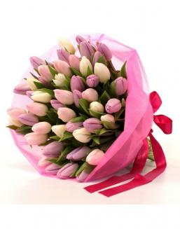 Bouquet of 51 pink tulips | Delivery and order flowers in Aktau