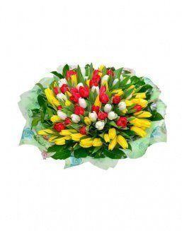Mix bouquet 101 tulips | Delivery and order flowers in Aktau