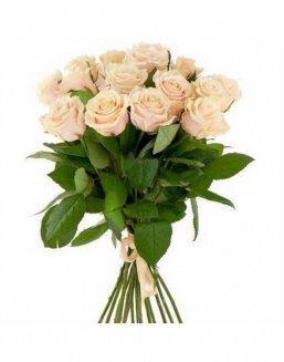21 high elite cream roses | Delivery and order flowers in Aktau