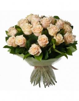 33 high elite cream roses | Delivery and order flowers in Aktau