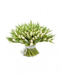 Bouquet 201 white tulips | Delivery and order flowers in Aktau